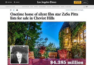Onetime home of silent film star ZaSu Pitts lists for sale in Cheviot Hills