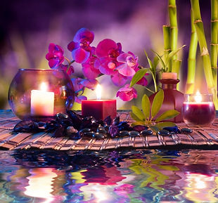 Candles with flowers