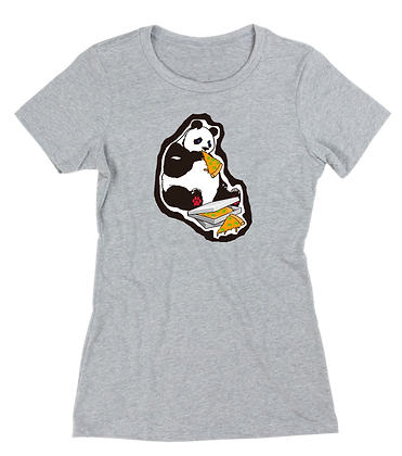 Women's Hungry Pizza Panda t-shirt t-shirt