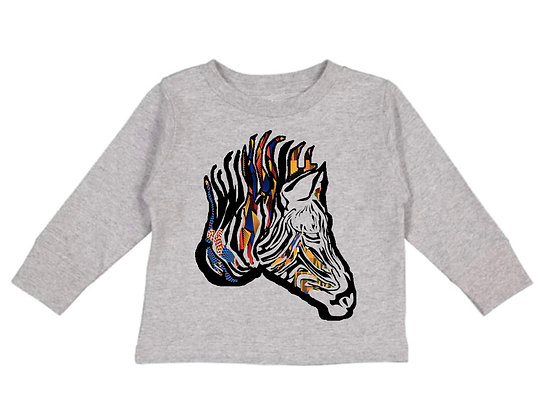 Ankara Zebra Sweater - Toddler