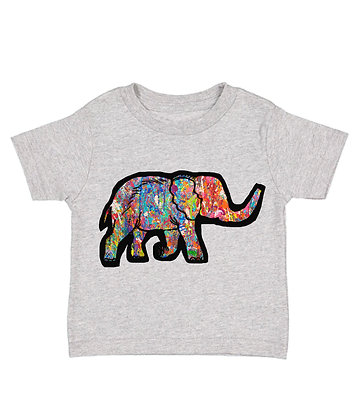 Colourful Elephant T-shirt- Toddler