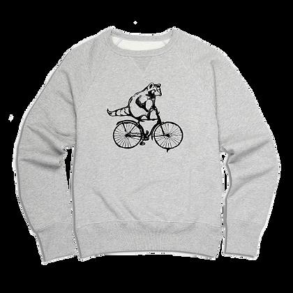 Men's Torontonian Racoon on a bike Sweater