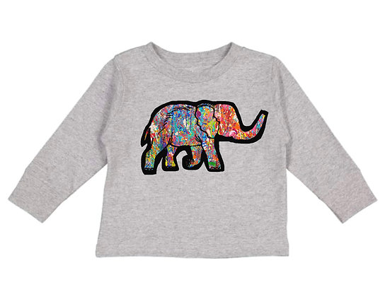 Colourful Elephant Sweater- Toddler