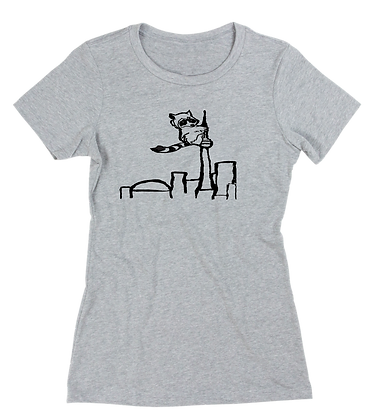 Women's Racoon on the CN Tower t-shirt