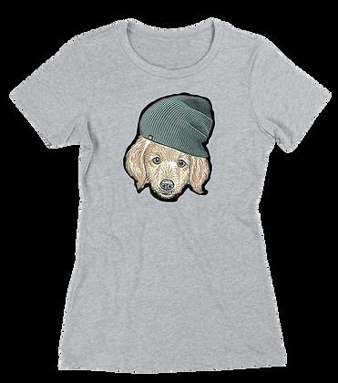 Women's Puppy In A Toque t-shirt