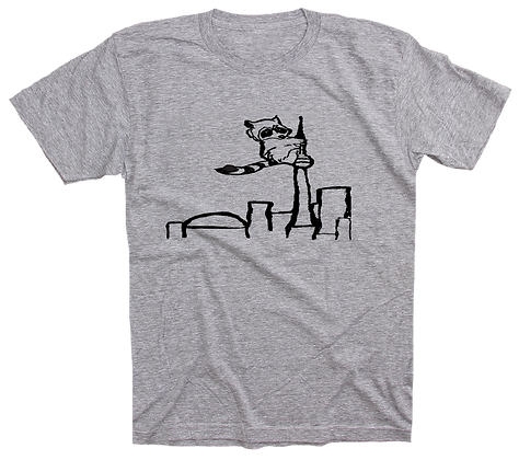 Men's Racoon on the CN Tower t-shirt