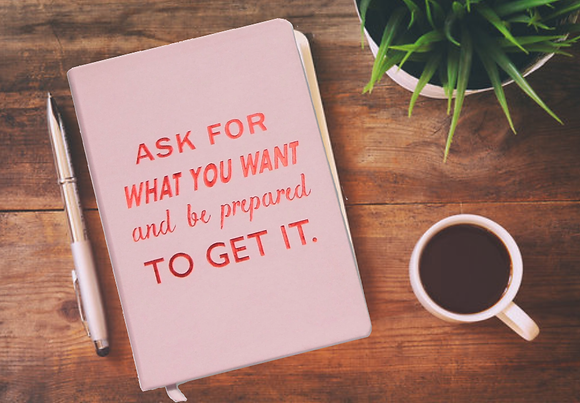 Ask For What You Want notepad