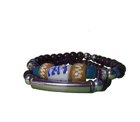 Recycled Tribal Glass Bracelet