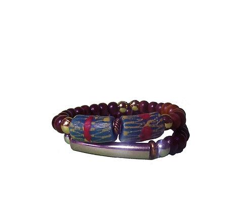 Recycled Green Glass Bracelet