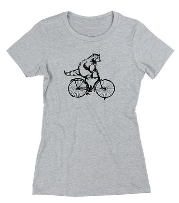 Women's Torontonian Racoon on a bike t-shirt