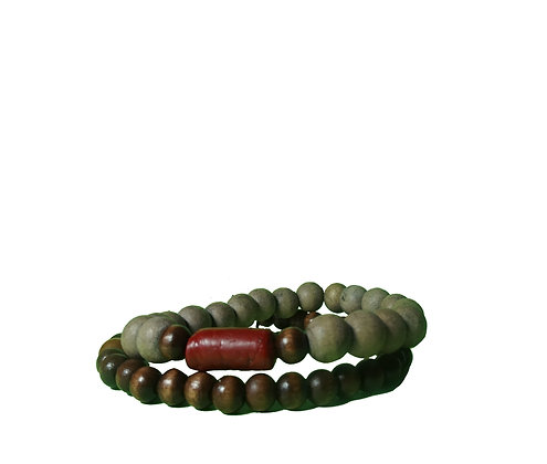 Recycled Red Rock bracelet