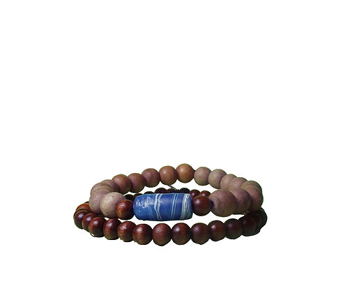 Recycled Blue Ocean Bracelet