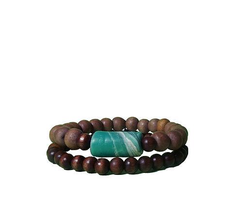 Recycled Turquoise Sea Bracelet