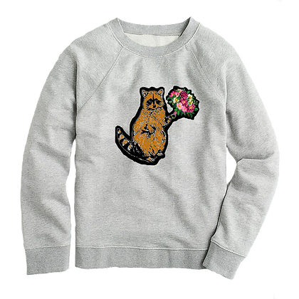 Romantic Racoon Women's Sweater
