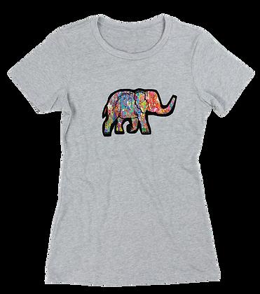 Women's Colourful Elephant T-shirt