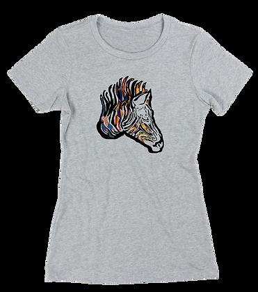 Women's Ankara Zebra t-shirt