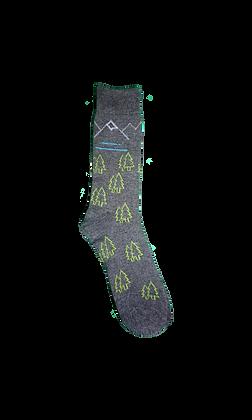 Mountains on socks