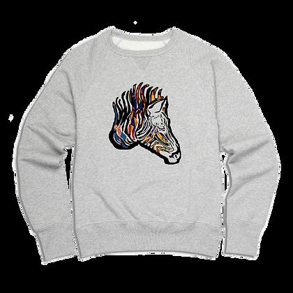 Men's Ankara Zebra Sweater