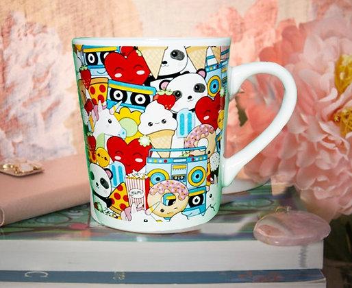 Panda, Hearts & Radios Mug