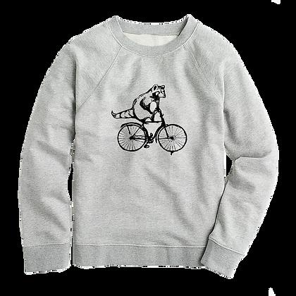 Women's Torontonian Racoon on a bike Sweater