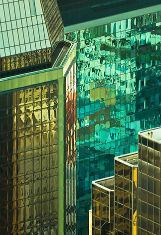 Tall Reflecting Office Buildings