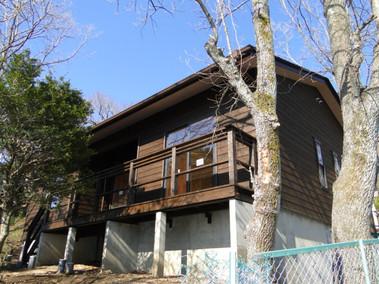 大室山の平屋の家