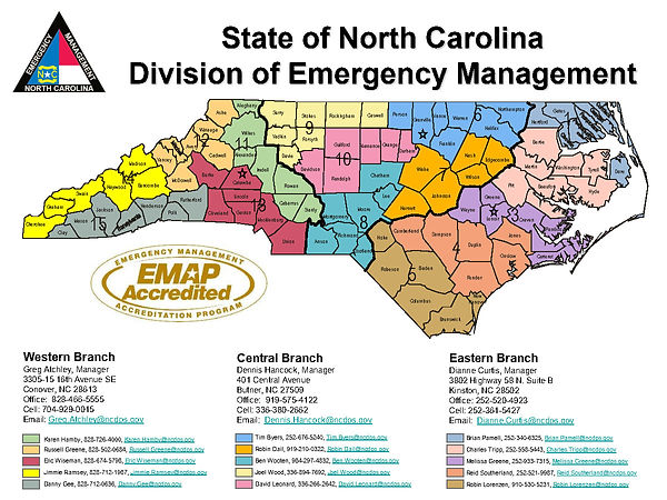 COVID-19 - NC Emergency Management Area