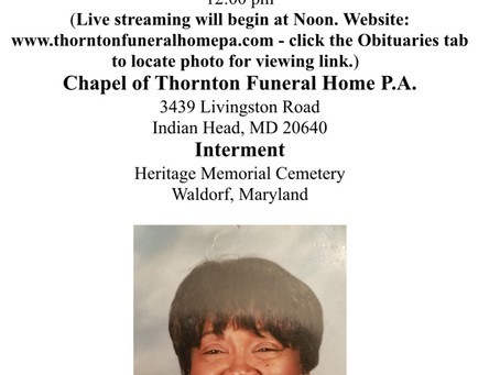 Passing of Mary Catherine Buford