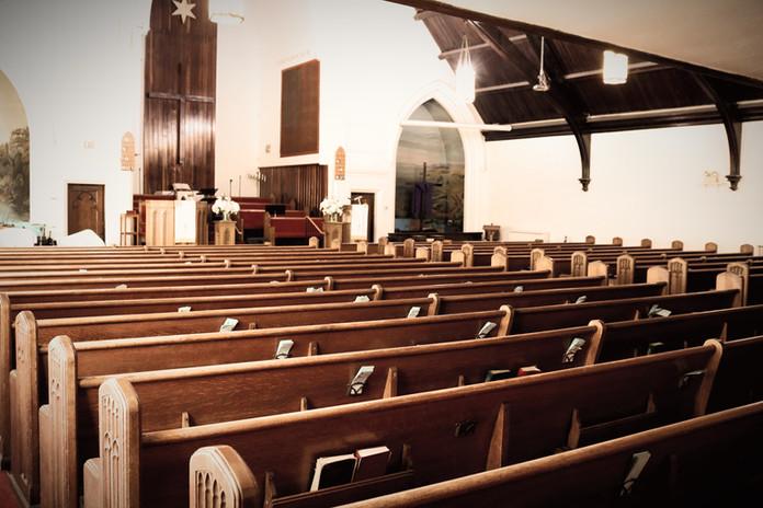 Inside church sanctuary