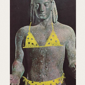Itsy bitsy yellow polka dot bikini