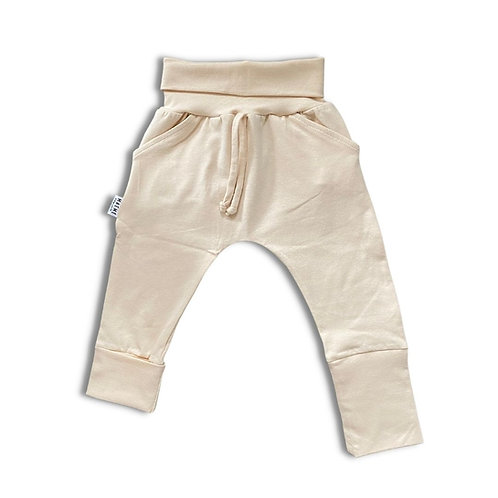 Pantalon ÉVOLUTIF uni crème