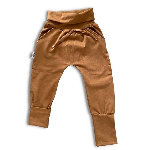 Pantalon ÉVOLUTIF uni caramel
