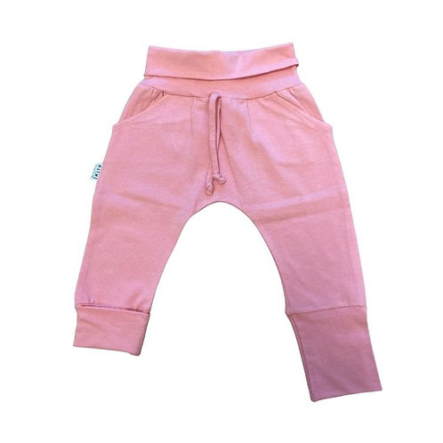 Pantalon ÉVOLUTIF rose uni