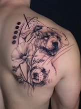 dog tattoo tattoo san diego