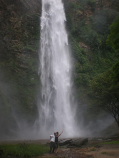 Divine and Christine at Wli Falls
