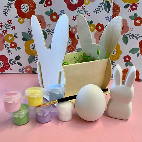 Bunny basket with and egg and a peep