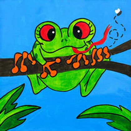 Froggy canvas