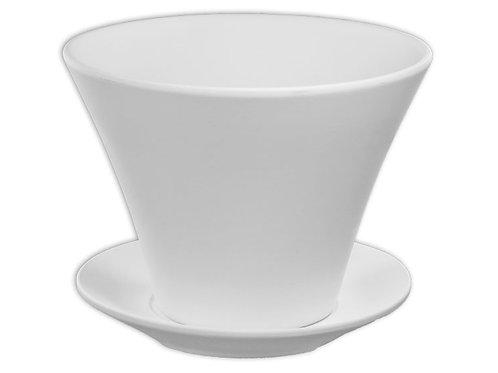 Curve flower pot w/tray
