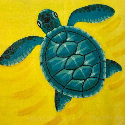 Little sea turtle canvas kit