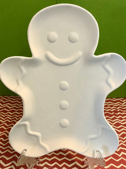 Gingerbread figure plate