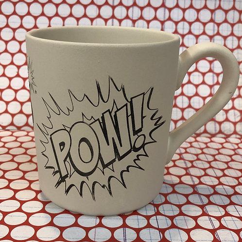 Pow, splat mug