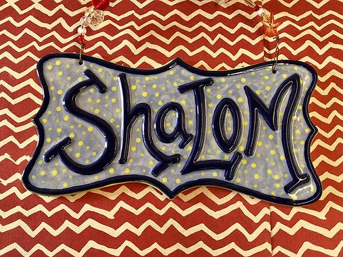 Shalom Hanging Plaque