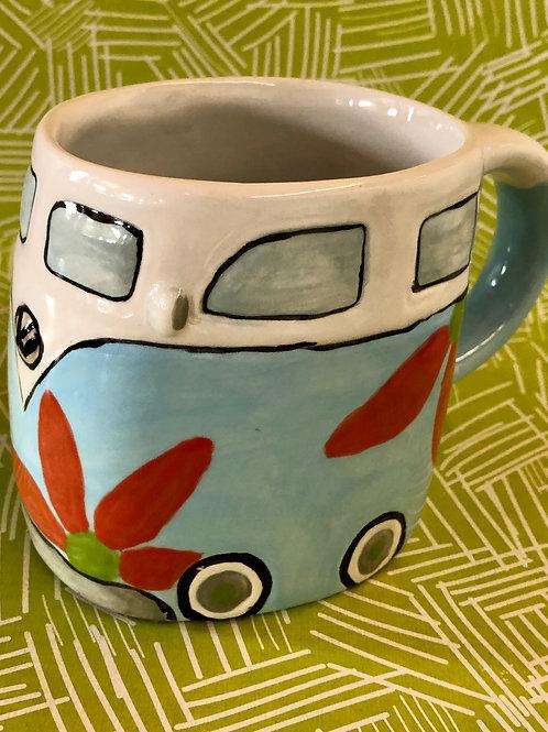 Hippie van mug