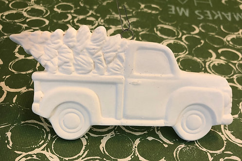 Truck with tree ornament