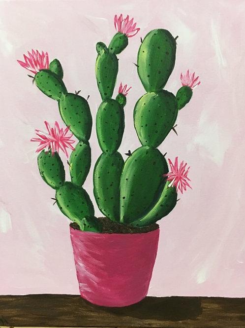 """Cactus Canvas 16"""" x 20"""""""