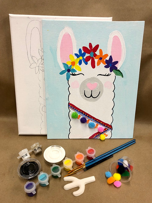 Llama canvas project kit