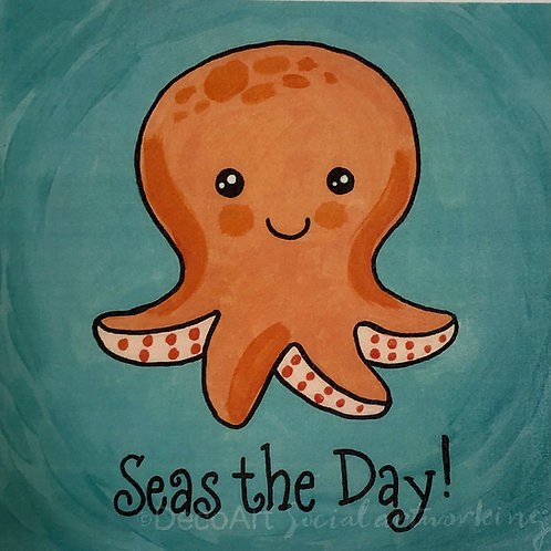 Seas the day canvas painting kit