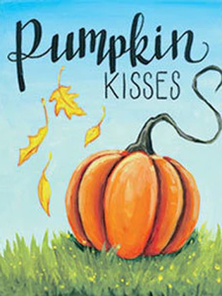 Canvas of the Month- PUMPKIN KISSES 16 x 20""