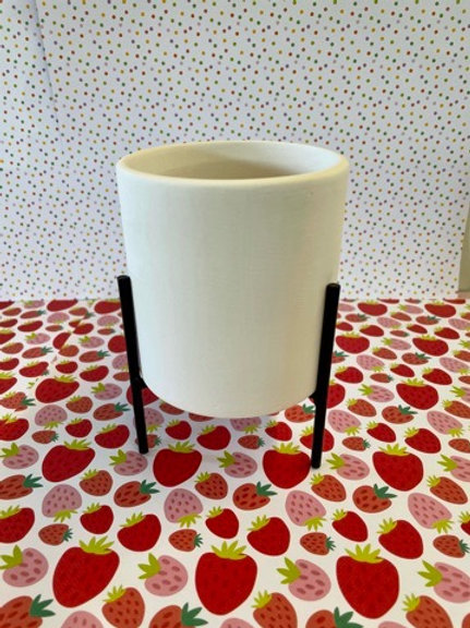 Small cylinder plant stand