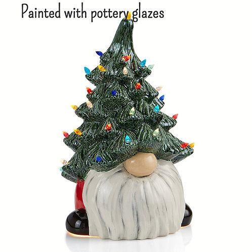 Christmas Gnome with light up tree